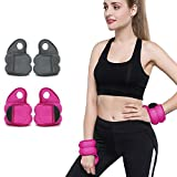 Jolitac Thumb Lock Wrist Weights Home Exercise Fitness Training Gym Equipment (Pink, 2 x 0.5kg)