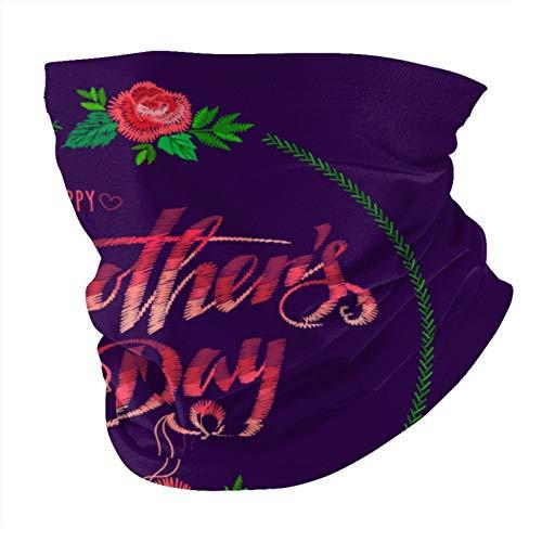 ZVEZVI Happy Mothers Day Bandana Mascarilla a prueba de polvo Variedad a prueba de viento Pañuelo para la cabeza Balaclava para mujeres Hombres