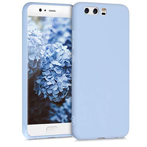 kwmobile Carcasa para Huawei P10 - Funda para móvil en TPU Silicona - Protector Trasero en Azul Claro Mate