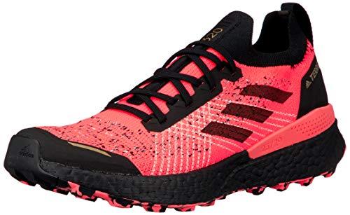 adidas Zapatilla Terrex Two Ultra Parley, Trail Running Hombre, Signal Pink/Core Black/Light F, 46 EU