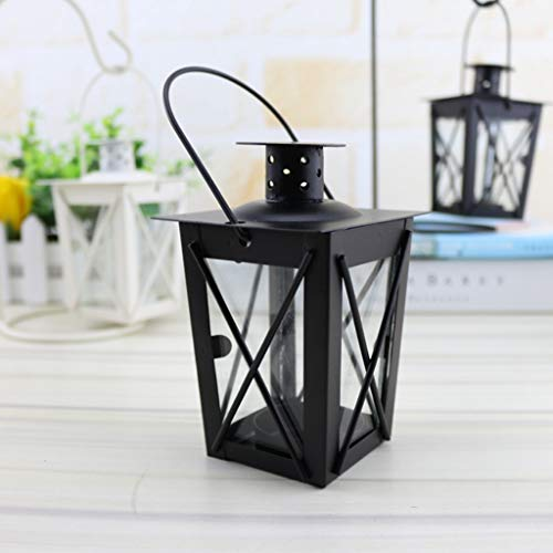 siwetg Negro/Blanco Romántico Romántico Portavelas Retro Colgante Lámpara Decoración para...