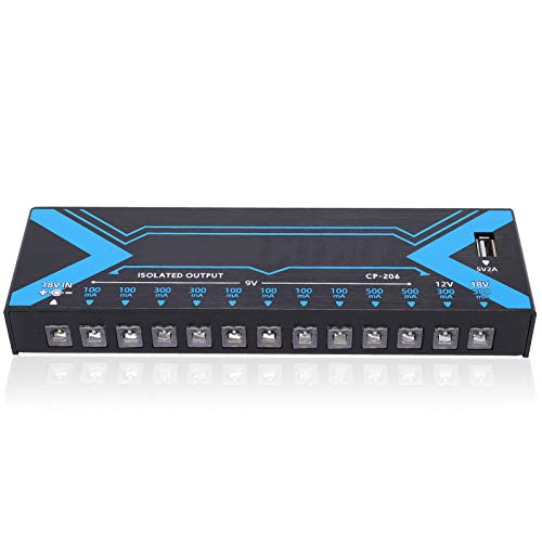 Effect Pedal, 12 Outputs Short‑Circuit Protection Guitar Power Supply Accessories 100‑240V with Anti-interference Processing(UK Plug)