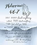 2021 Bible Verse Daily Planner - Philippians 4:6-7 Don't worry about anything; instead, pray about everything.: 2021 Christian Daily Planner | Bible ... (Bible Quotes 2021 Daily Planner Series)