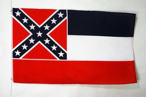 AZ FLAG Drapeau Mississippi 90x60cm - Drapeau Etat américain - USA - Etats-Unis 60 x 90 cm - Drapeaux
