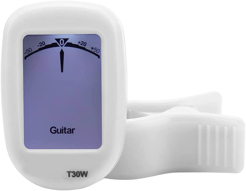 Afinador de violín, Afinador de metrónomo T30W Afinador de guitarra profesional automático inteligente para guitarras acústicas para músicos(blanco)