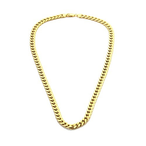 9ct Gold Semi Hollow Curb Chain Necklace Length 20' Width 7.12mm Weight 20gr Gives An Impression Of 1oz