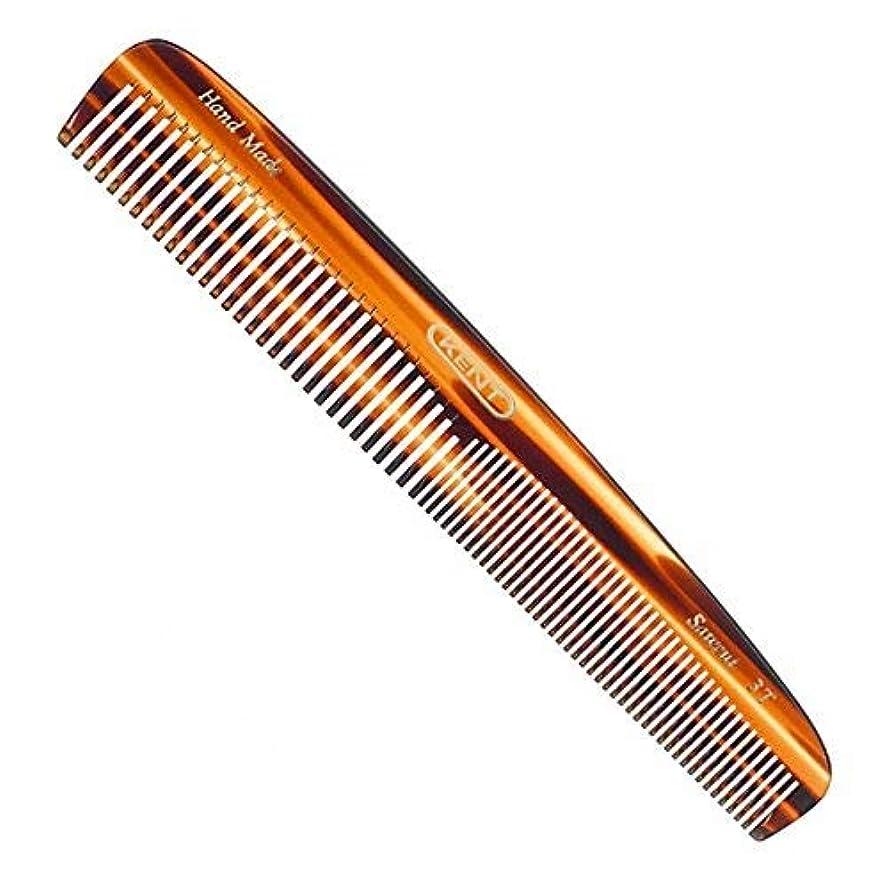 パラメータ銀気晴らしKent Handmade Saw Cut 148 Millimeter Coarse and Fine Tooth Dressing Comb, Hand Sawn Cellulose Acetate with Rounded Teeth, Faux Tortoiseshell Design, A 3T [並行輸入品]