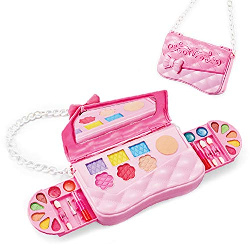 VENTDOUCE Pretend Kids Makeup Kit Toy Girls, Pretend Makeup Toys With Cosmetic Bag Play Makeup Set, Safe Non-Toxic Fake Cosmetic Toys Kit Make Up For Girls Age 3 4 5 Birthday Christmas