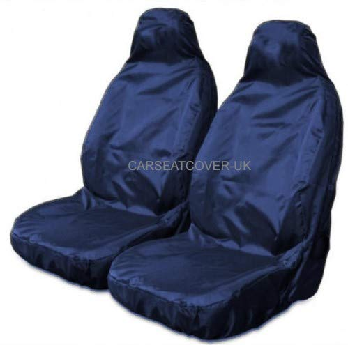 Carseatcover-UK Heavy Duty NAVY WATERPROOF Car Seat Cover Protectors AIRBAG SAFE for Front Seats