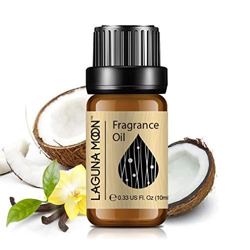 Lagunamoon Olio profumato, Olio Essenziale per Umidificatore, Olio Fragrante per Aromaterapia 10 ml - Cocco e Vaniglia
