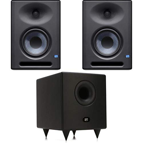 Big Save! PreSonus Eris E5XT Powered Studio Monitor Pair with Temblor T8 Subwoofer