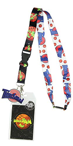 Space Jam ToonSquad Character Lanyard ID Holder with Mask Rubber Charm and Collectible Sticker