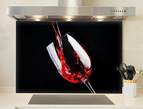 Credence, Fond de hotte - Verre de vin rouge