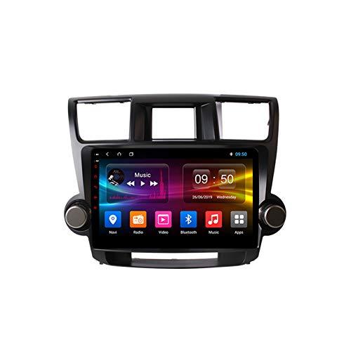 TypeBuilt Android Car Stereo Radio De Coche 9 Pulgadas Unidad Principal Reproductor Multimedia Receptor De Video Carplay para Toyota Highlander 2 XU40 2007-2013 Autoradio Mit Navi,Px6