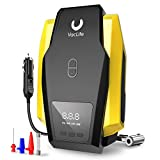 VacLife Air Compressor Tire Inflator, DC 12V Portable Air Compressor for Car Tires, Auto Tire Pump with LED Light, Digital Air Pump for Car Tires, Bicycles and Other Inflatables, Yellow(VL701)