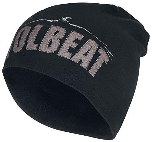 Volbeat Logo - Jersey Beanie Unisex Mütze schwarz 100% Baumwolle Band-Merch, Bands