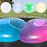 SevenMye 4Pcs Outdoor Fun Inflatable Bubble Ball Bubble Ball for Water Large Transparent Balloon Inflatable Ball Soft Rubber Ball for Outdoor Indoor Play, Medium