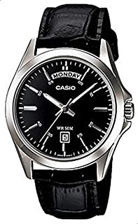 Casio for Men Analog MTP-1370L-1AVDF Leather Watch