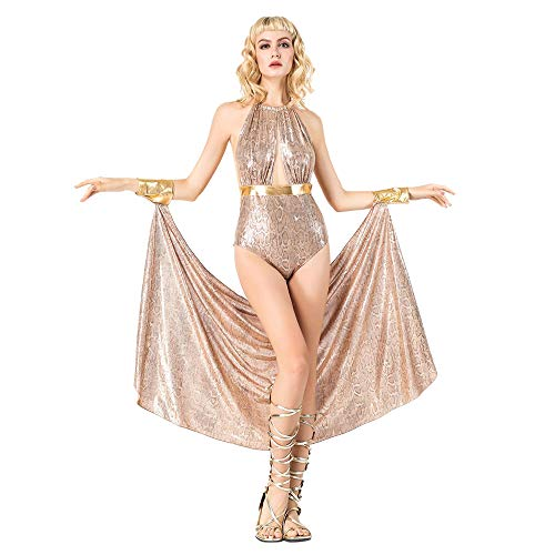 Halloween Pailletten Griekse Godin Role-Playing Suit Volwassen Siamese Singer Collar Dans Kostuum Cosplay Night Club Bar