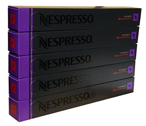 Nespresso Kapseln Arpeggio Decaffeinato - 5er Pack, 50 Kapseln (lila) - Entkoffeiniert