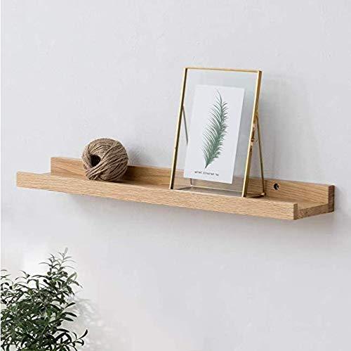 ArtBroz Rustic Floating Shelves for Wall - Set of 2 Heavy Duty Wood Shelves, 24x6.7x1.7 Inch, Deep Long Chunky Floating Wall Shelf, Grade-A Pine Wood +Smart Hidden Mounts +Premium Anchors [Kayak]