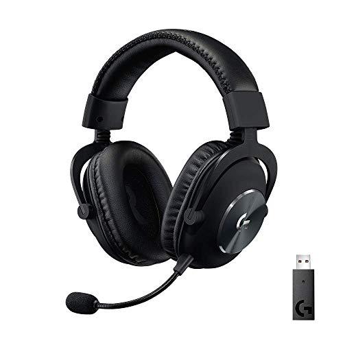 Logitech G PRO X Auriculares Inalámbricos LIGHTSPEED para Gaming, Micrófono Blue VO!CE, Controladores PRO-G de 50 mm, DTS: Sonido Envolvente X 2.0, Memory Foam, para PC, Batería de 20 Horas