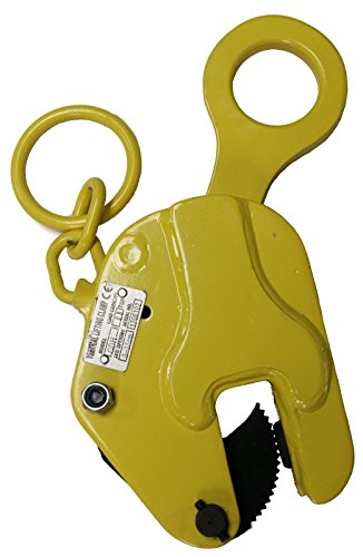 V-Lift Industrial Vertical Plate Lifting Clamp Steel 1763 lb WLL .8T with Lock
