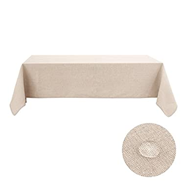 Deconovo Tablecloths For Rectangle Table 60 x 144 Recycle Cotton Fabric Tablecloths For Parties Light Beige