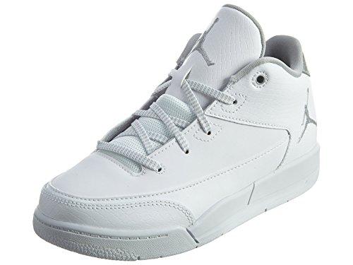 Nike Jordan Flight Origin 3 BP, Scarpe da Basket Unisex-Bambini, Blanco (White/Metallic Silver-White), 29 1/2
