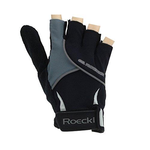 Roeckl Gel MTB guantes de la bicicleta de la corto dedo negro-gris...