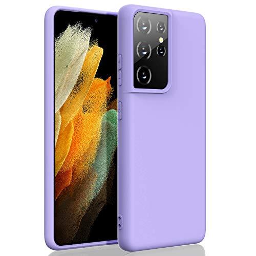 ZUSLAB Compatible con Samsung S21 (6,9') Funda Nano Silicona, Cubierta Delgada Case Suave - Púrpura