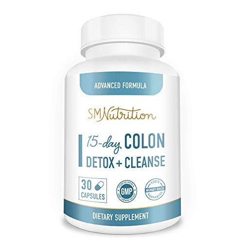 Colon Cleanse & Detox - 15 Day Quick Colon Cleanse Capsules - Digestive System Detox and Colon Cleansers for Weight Loss - Bloating and Constipation Relief for Adults*