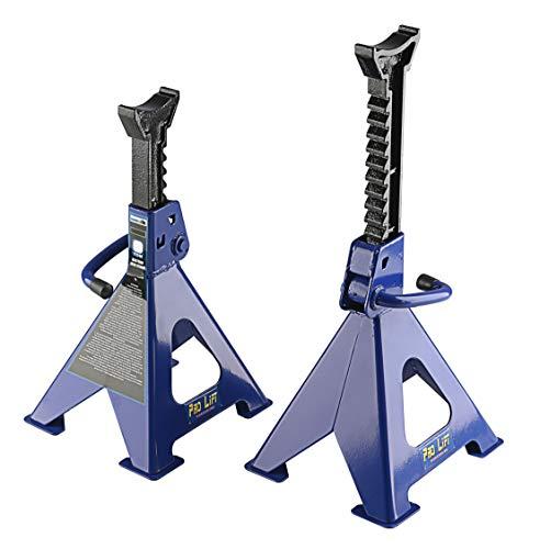 Pro-Lift-Werkzeuge Unterstellbock 3t Set Abstellböcke Wagenheber Abstützbock Höhe 292 – 425 mm KFZ PKW Unterstellböcke Rangierwagenheber Stützbock 3000 kg Bock