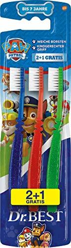 Dr. Best Paw Patrol Zahnbürste, Weich, weiche Borsten und kindgerechter Griff, 1 Stk.
