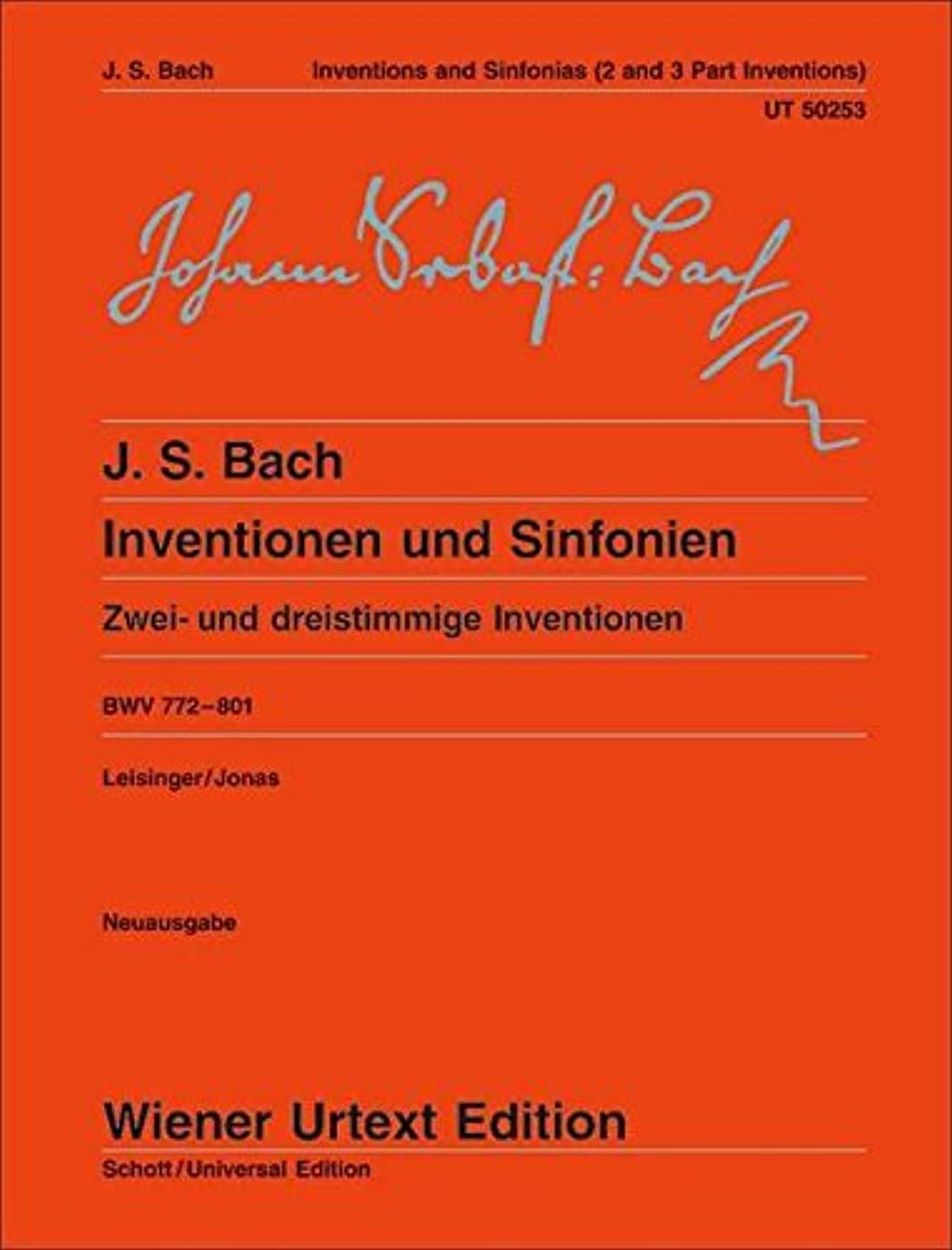 Inventions and Sinfonias BWV 772: 801 Two and Three Part Inventions Piano