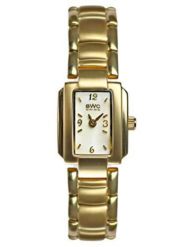 BWC-Swiss 201565106 - Reloj analógico de Cuarzo con Correa de Acero Inoxidable para Mujer
