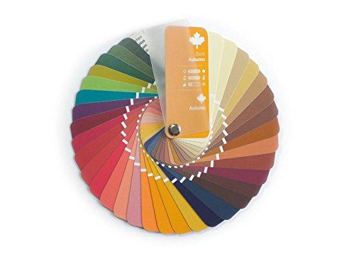Farbpass Herbst (Dark Autumn) als kleiner Fächer mit 35 typgerechten Farben zur Farbanalyse, Farbberatung, Stilberatung
