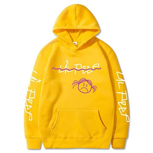 Lil Peep Accesorios Hip Hop Sudadera con Capucha Tops Pullover Mom Lil Peep Gym Sudadera Mujer XXL