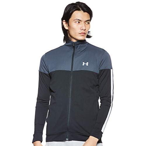 Under Armour, Sportstyle Pique Track Jacket, Felpa, Uomo, Grigio (Stealth Gray/White 008), XL