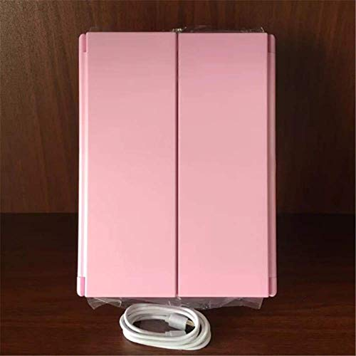 NOUVEAU 21 LED Light Mirror Make Up Mirror Tri-Fold Dressing Coiffeuse USB