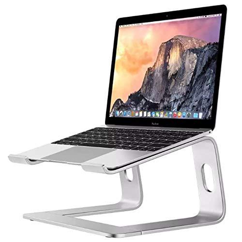 Soporte para Portátil, Soporte Ordenadores Portátiles, Soporte para Laptop para Aluminium, Bases de Portátiles para Notebook PC Laptop MacBook, Mesa para Ordenador para 10-17 Pulgadas (Silver)