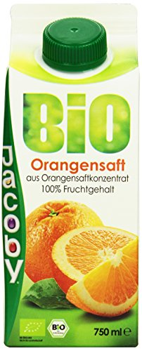 Jacoby Bio Orangensaft aus Orangensaftkonzentrat, 8er Pack (8 x 750 ml)