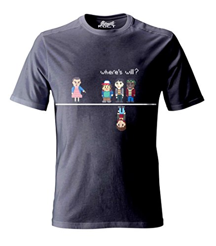 1/4 Mile Kult Clothing Stranger Things T-Shirt 1980'S Computer generated 8 Bit Pixel Eleven, Mikey.Dustin e Will