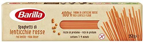 Barilla Pasta di Legumi Spaghetti di Lenticchie Rosse, Ricche di Fibre e Proteine, Senza glutine, 250 gr