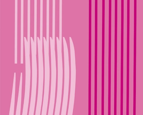 Gedy Duschvorhang aus Polyester Monocromo Fuchsia 180x 200