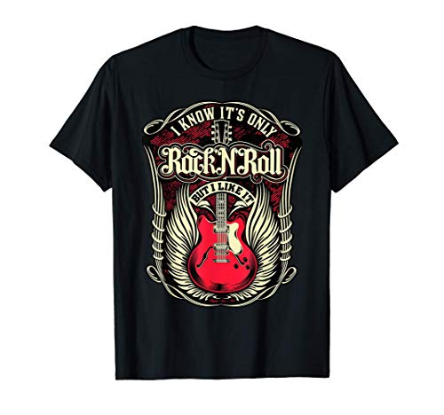 Camisetas Rockabilly Hombre Mujer Rock and Roll Guitarra Camiseta
