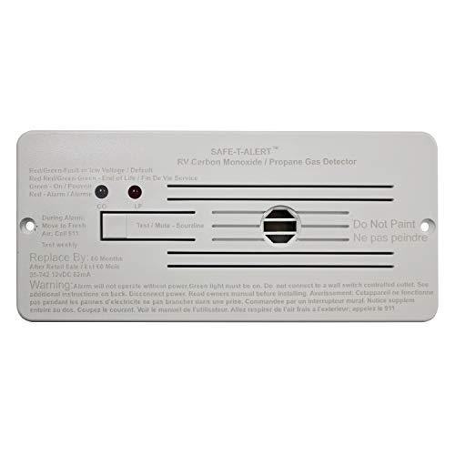 Safe-T-Alert by MTI Industries 35-742-WT Dual LP/CO Alarm - 12V, 35 Series Flush Mount, White,