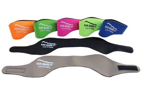 EarBandIt Ear Bandit Ultra Swimmers Headband (Neon Orange, Medium) by