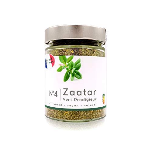 Real Zaatar Premium, Fresco, Delizioso e molto profumato - con solo l'1% di sale Zatar Za'atar - N.4 Vert Prodigieux 180g