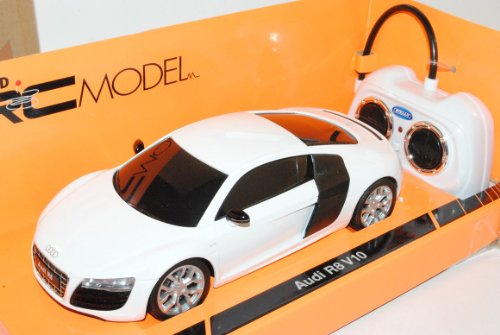 Welly A-U-D-I R8 V10 Coupe Weiss RC Funkauto 1/24 Modell Auto